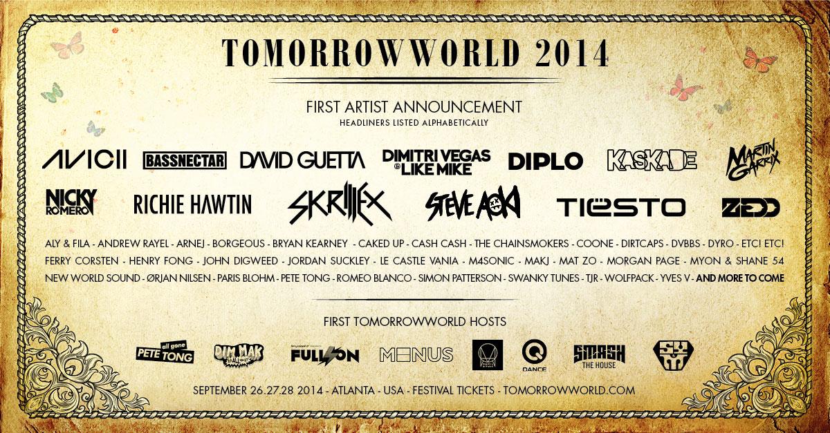 Tomorrowworld 2013 lineup