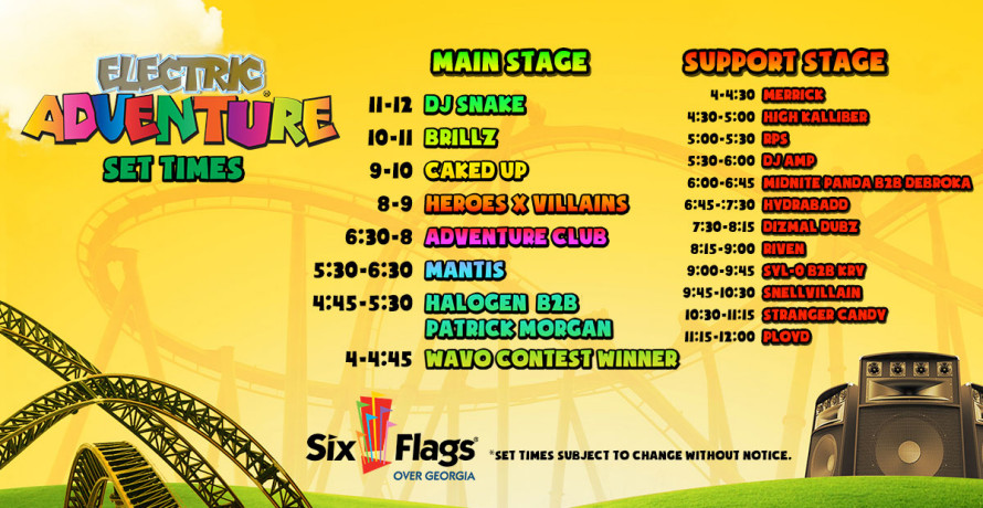 blog view the set times for electric adventure atlanta