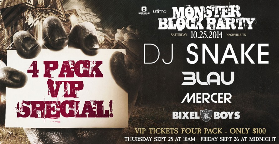 blog receive four vip tickets to monster block party in nashville for just $100